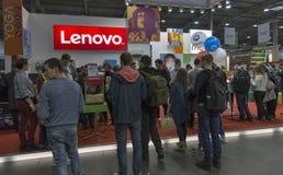 Exposição 2016 da ECO da eletrônica em Kiev, Ucrânia fotografia de stock