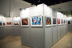 A exposição da foto, o salão de exposição Fotografia de Stock