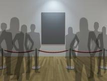 exposição da galeria 3d Fotos de Stock