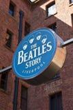 A exposição da história de Beatles Imagens de Stock