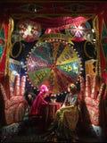 Exposição da janela do feriado em Bergdorf Goodman, NYC ilustração stock