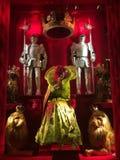 Exposição da janela do feriado em Bergdorf Goodman, NYC ilustração royalty free