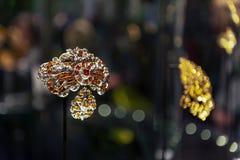 Exposição da joia no William e a Judith Bollinger Gallery em Victoria e o Albert Museum Foto de Stock Royalty Free