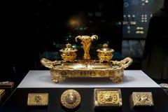 Exposição da joia no William e a Judith Bollinger Gallery em Victoria e o Albert Museum Foto de Stock