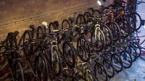 Exposição da loja da bicicleta Imagem de Stock Royalty Free