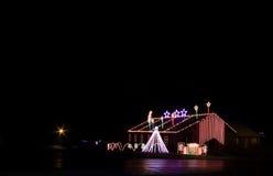 Exposição da luz de Natal Foto de Stock