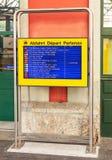 Exposição da partida da chegada na estação de trem de Arth-Goldau fotos de stock royalty free