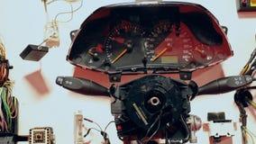 Exposição da peça do carro para a engenharia de ensino do veículo video estoque