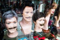 Exposição da peruca Fotos de Stock Royalty Free