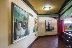Exposição da pintura a óleo no segundo andar de Sun Yat-sen Memorial Hall Foto de Stock Royalty Free