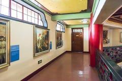 Exposição da pintura a óleo no segundo andar de Sun Yat-sen Memorial Hall Imagens de Stock Royalty Free