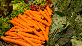 Exposição da salada Imagens de Stock