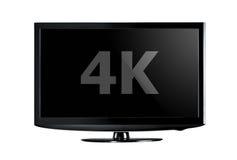 exposição da televisão 4K Imagens de Stock