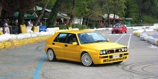 Exposição da tração de um carro de esportes Fotos de Stock Royalty Free