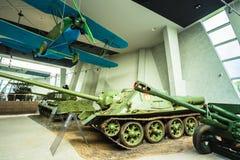 Exposição das armas e do equipamento no Fotografia de Stock Royalty Free