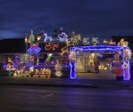Exposição das luzes de Natal para a caridade Imagens de Stock