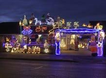 Exposição das luzes de Natal para a caridade Imagem de Stock