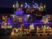 Exposição das luzes de Natal para a caridade Fotos de Stock