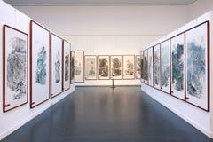 Exposição das pinturas Fotografia de Stock