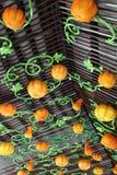 Exposição de abóboras sortidos Imagens de Stock