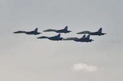 Exposição de Airfighters SU-27 das oportunidades Fotografia de Stock Royalty Free