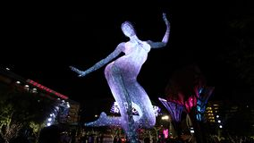 A exposição de Bliss Dance Sculpture fotografia de stock royalty free