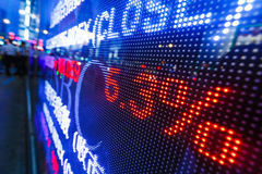 Exposição de citações do mercado de valores de ação Fotos de Stock