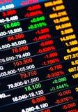 Exposição de citações do mercado de valores de ação Fotografia de Stock