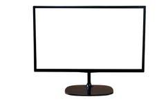 Exposição de computador com a tela branca vazia Fotografia de Stock Royalty Free