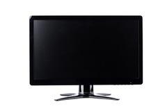 Exposição de computador do monitor do diodo emissor de luz na tecnologia branca do desktop do hardware do fundo isolada fotografia de stock