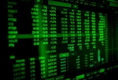 Exposição de dados conservada em estoque do mercado da tela do Uptrend imagem de stock royalty free