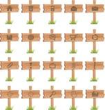 Exposição de madeira dos botões Imagem de Stock Royalty Free