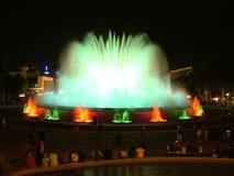 Exposição de Magica da fonte em Barcelona Imagem de Stock Royalty Free