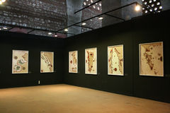 Exposição de mapas medievais de Piri Reis Fotografia de Stock