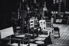 Exposição de uma oficina velha imagens de stock
