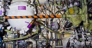 Exposição detalhada das peças dos aviões. imagem de stock royalty free