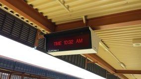Exposição digital pública do trem Foto de Stock