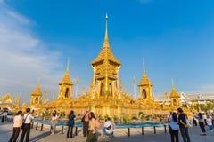 Exposição do crematório real do rei Rama IX fotos de stock