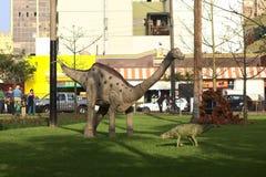 Exposição do dinossauro em Miraflores, Lima, Peru fotos de stock