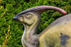 Exposição do dinossauro no parque botânico Imagens de Stock Royalty Free
