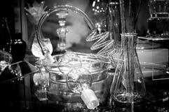 Exposição do equipamento velho da química foto de stock royalty free