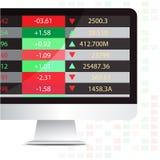 Exposição do estoque do computador Imagem de Stock
