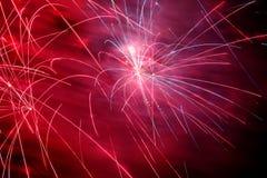 Exposição do fogo de artifício Fotografia de Stock Royalty Free