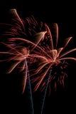 Exposição do fogo de artifício Imagem de Stock