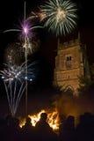 Exposição do fogo de artifício - 5 de novembro - Inglaterra Imagens de Stock