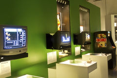 Exposição do jogo de vídeo Fotografia de Stock