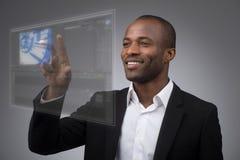 Exposição do LCD do futuro Imagem de Stock Royalty Free