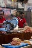 Exposição do sanduíche curado fumado do presunto foto de stock royalty free