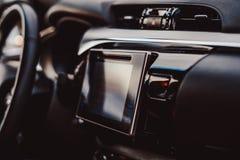 A exposição do sistema de multimédios do carro Fotos de Stock
