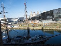 Exposição do tempo de guerra em Albert Dock em Liverpool Merseyside Inglaterra Fotos de Stock